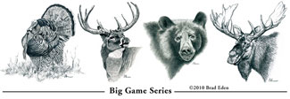 Upland Journal Postcards: Big Game series